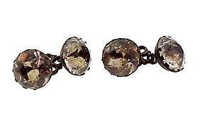 Georgian Silver & Paste �Stuart Crystal� Cufflinks