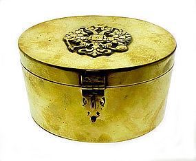 Imperial Russian Brass Romanov Double Eagle Tea Caddy