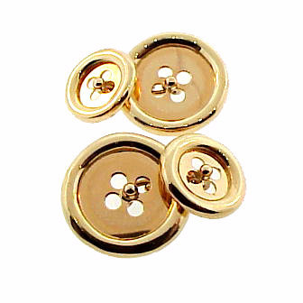 Vintage 14K Yellow Gold Double-Sided Button Cufflinks