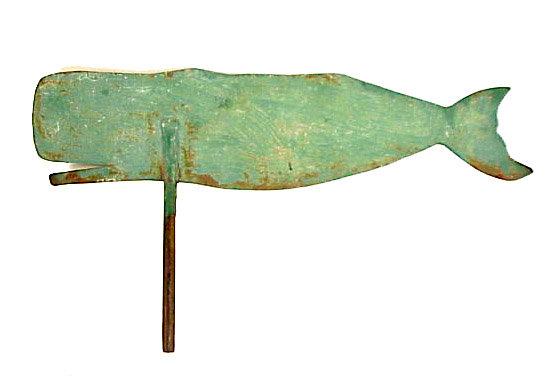 Sperm Whale Silhouette Sheet Iron Weathervane