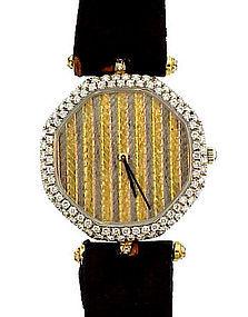 Van Cleef & Arpels 18K Gold & Diamond Man's Dress Watch