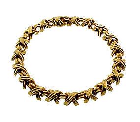 Tiffany & Co. 18K Gold SIGNATURE X Bracelet