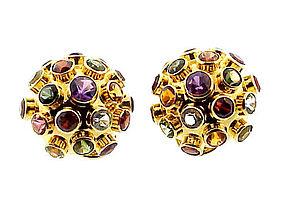 H. Stern 18K Gold Sputnik Multi-Gem Earrings