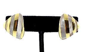 Angela Cummings 18K Gold & Mother-of-Pearl Earrings