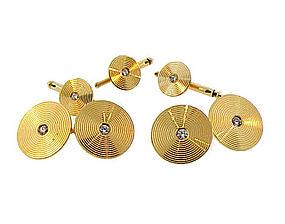 Bailey, Banks & Biddle 14K Gold & Diamond Dress Set
