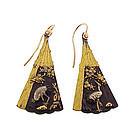 Meiji 18K Rose Gold & Mixed-Metal Shakudo Fan Earrings
