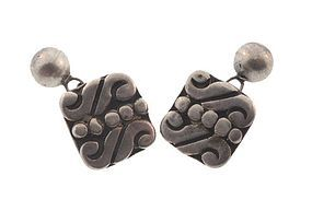 Early Mexican Silver Cufflinks