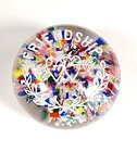 Vintage American Glass Frit Paperweight