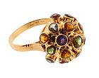 H Stern 18K Gold Multi-Stone Sputnik Ring