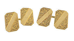 Carter, Gough & Howe Victorian 14K Gold Cufflinks