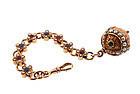 Renaissance Revival 14K Ruby Sapphire Pearl Watch Fob