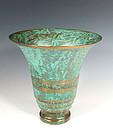 Carl Sorensen Patinated Bronze Art Deco Trumpet Vase