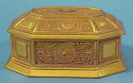 Jenning Brothers Gilt Copper Jewel Casket