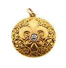 Victorian 18K Gold & Diamond Fleur-de-Lis Locket