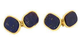 Heavy 18K Gold & Lapis Lazuli Cufflinks