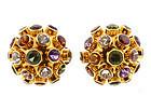 H Stern 18K Gold & Gemstone Sputnik Earrings