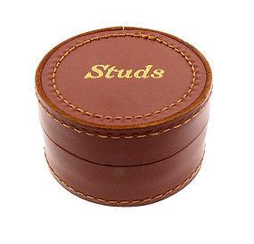 1930s Leather Studs Box