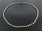 Edwardian Natural Pearl & Platinum Necklace