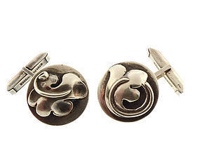 Art Deco Sterling Silver Cufflinks