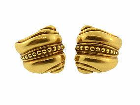 Kieselstein-Cord 18K Gold �Caviar� Earrings