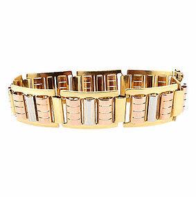 French Retro 18K Multicolored Gold Bracelet