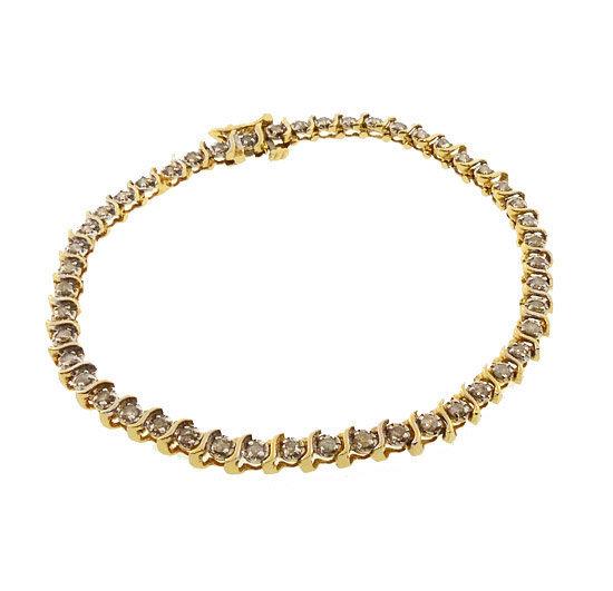 14K Yellow Gold & 1-Ct Diamond Tennis Line Bracelet