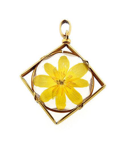 French Louis XVI Style 18K Gold Crystal Porte-Photo Locket