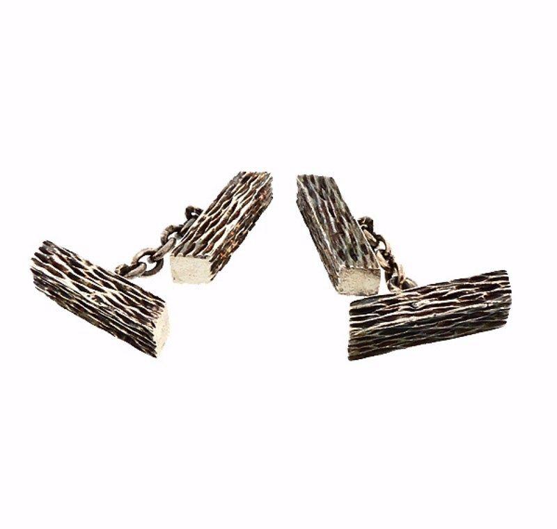 Pre-World War II Hermes Sterling Silver Cufflinks