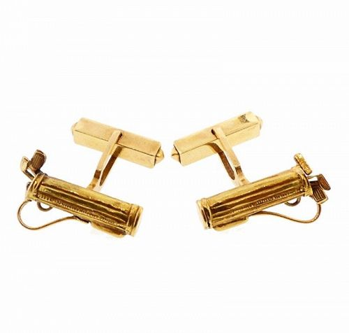 Vintage 14K Gold Golf Bag & Club Cufflinks