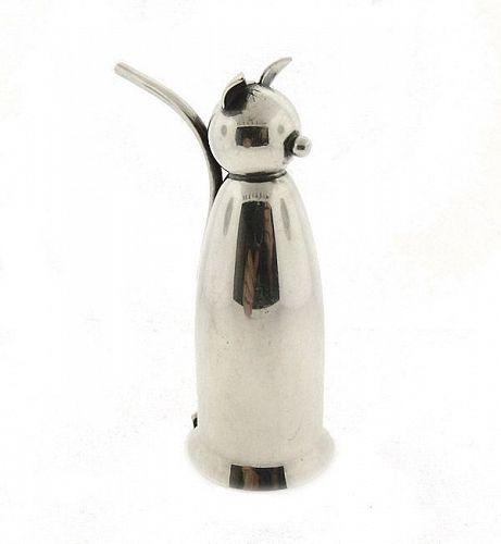 Napier Art Deco Silverplate Cat Jigger