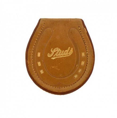 Vintage Horseshoe-Shaped Leather Studs Box