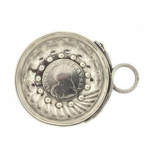 French Silver Louis XV Coin Wine Taster Tastevin