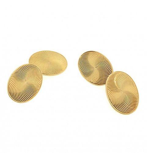 Edwardian Carrington 14K Yellow Gold Double-Sided Cufflinks