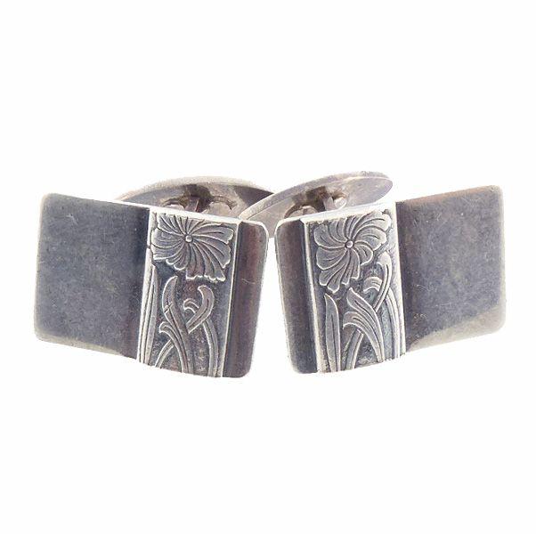 Polish Art Deco Style Sterling Silver Cufflinks