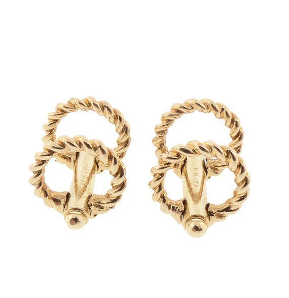 Art Deco 14K Gold Stirrup Cufflinks