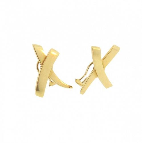Tiffany & Co. Paloma Picasso 18K Gold X Earrings
