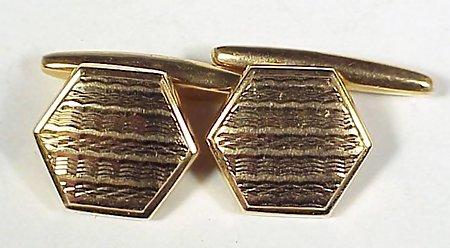 Art Deco Engine-Turned 21K Gold Cufflinks