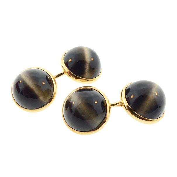 A. Sulka & Co.14K Gold Cat�s Eye Chrysoberyl Dress Set by Larter