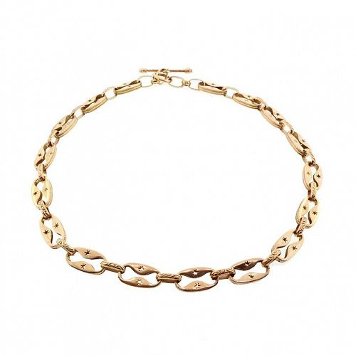 Victorian 14K Rose & Yellow Gold Fancy Watch Chain Necklace