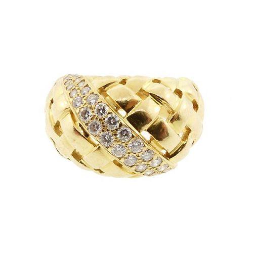 Tiffany VANNERIE 18K Gold & Diamond Ladies' Ring