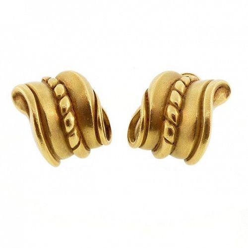 Kieselstein-Cord 18K Gold ROPE TWIST Earrings