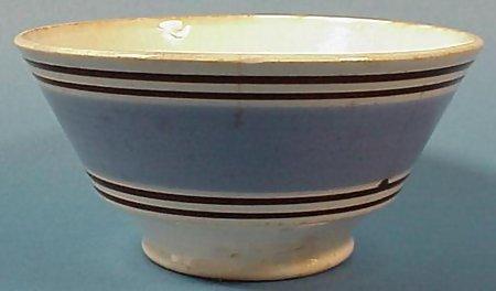Banded Mocha Earthenware Bowl