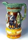 Sandford Pottery Majolica Crimean War Jug