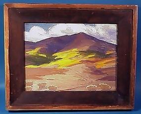 Rocky Mountain Oil Painting-A.J. Hammond 1924