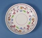 English Pink Luster Porcelain Saucer