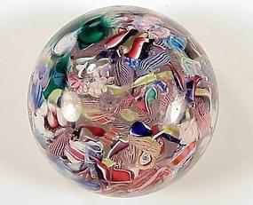 New England Glass Company Scrambled Glass Paperweight