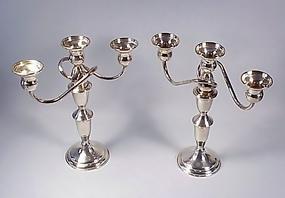 Vintage Sterling Silver Candlelabra