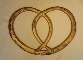 American 19th Century Iron Pretzel Trade Sign