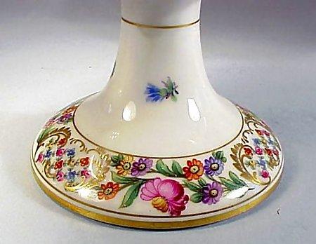Pair Schumann DRESDEN GARLAND Porcelain Compotes
