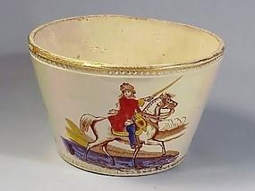 Staffordshire King William III Transfer Ware Waste Bowl
